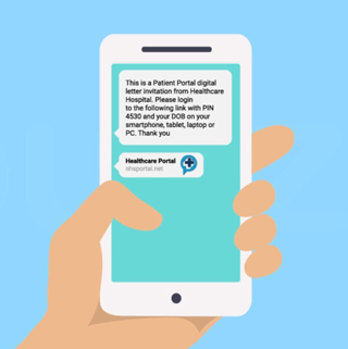 You will receive a text reminder to your smartphone with your appointment details. Simply click the link in the text message to take you through to the Outpatient Portal.