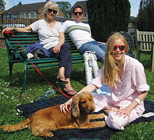 Patient Emily Hoyle enjoys the sunshine with her family