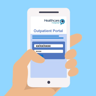 When you enter the Outpatient Portal, put in your date of birth and unique four-digit PIN from the text message.  This will take you to your appointment detail page